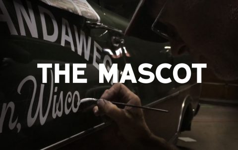 Lettering the Mascot Truck