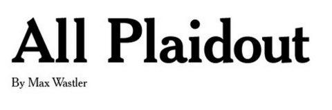 All Plaidout