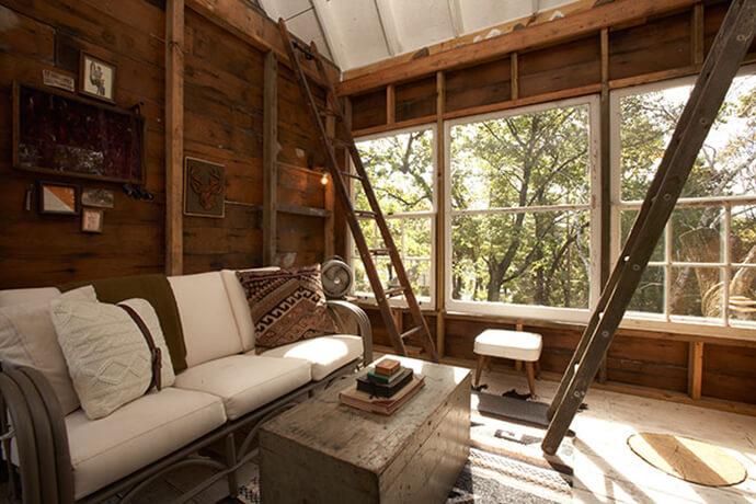 Tree House Interior treehouse | camp wandawega